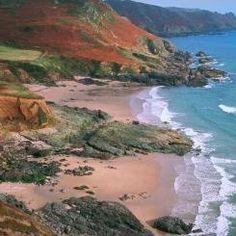 Coastline in Devon, England by Jupiterimages on Getty Images