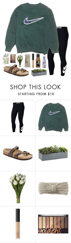 """"" by pinkrasberry on Polyvore featuring NIKE, Birkenstock, Crate and Barrel, Aéropostale, NARS Cosmetics and Swell"