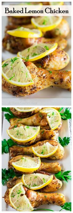 Crispy baked lemon chicken. Super easy to make, and its paleo/whole 30 approved.