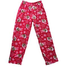 7f0905359bba Clothing. Womens Red Rudolph The Red Nosed Reindeer Fleece Sleep Pants  Pajama Bottoms