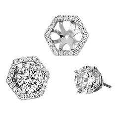 Spark Creations - EJ 5126 0.25 CT DIAMOND EARRING JACKET (CENTER FOR 1.00 CT EACH)