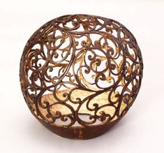 Carved coconut shell
