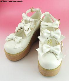 Sweet Wooden Soled Ribbon Shoes - metamorphose temps de fille