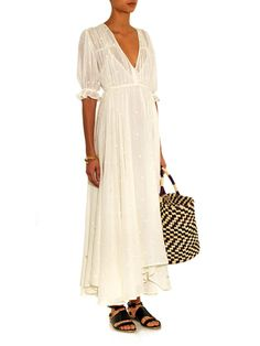 MES DEMOISELLES Louise embroidered cheesecloth dress || this dress reminds me of a fairy tale.