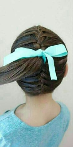 Double dutch braid made into a ponytail