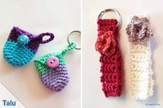 Crochet angels - Instructions for Christmas angels / guardian angels - KEY RINGS Crochet Angels, Crochet Art, Cute Crochet, Crochet Ideas, Christmas Baby, Christmas Angels, Christmas Ornaments, Textiles, Craft Fairs
