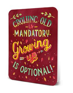 Deluxe Card Set- Growing Up Is Optional