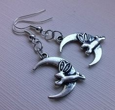Hey, I found this really awesome Etsy listing at https://www.etsy.com/listing/206654634/hare-moon-earrings-moon-earrings-rabbit