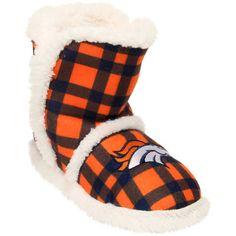 Denver Broncos Women's Flannel Sherpa Boot Slippers