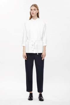 COS | Tie-waist cotton shirt