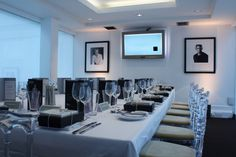 Private Dining in the Gallery at BAFTA 195 Piccadilly in London