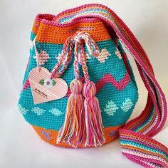 Tecendo Artes em Crochet: Minha Primeira Wayuu Bag Ficou Assim...Vem ver!