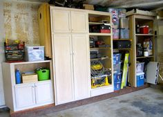 Using old Kitchen Cabinets in the garage is alwasy a good ...