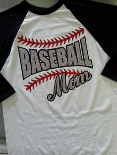 Baseball Mom Glitter by GraphicsUnlimitedLLC on Etsy, $26.00