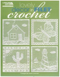 Picture of Lovely Decor in Filet Crochet