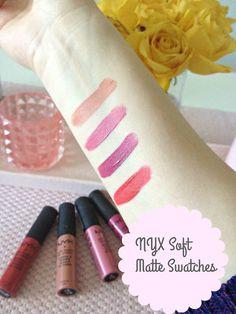 { NYX Softe Matte Lip Cream } | Julia Lindberg Nyx Soft Matte, Matte Lips, Lip Cream, Swatch, Blog, Blogging