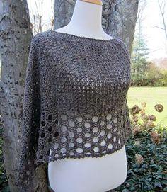 Kelley's Ponchito - free crochet poncho pattern by Julie Blagojevich. S/M.: