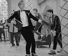 Taeil laughing, P.O jumping (jumping yeah, jumping yeah, everybody! *coughs*), the background dancer flipping his cap like a boss, Zico cleaning the floor with his way too short broomstick and whatever U-Kwon is doing......... THIS GIF IS BLOCK B