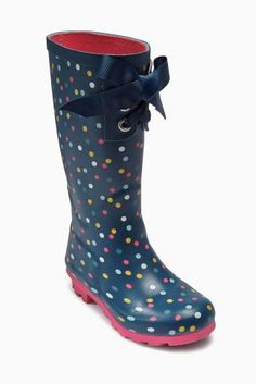 Buy Navy Spot Wellington Boots (Older Girls) from the Next UK online shop