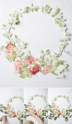 Wallpaper floral wreath - The House That Lars Built
