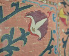 detail of a silk suzani, XIXth century