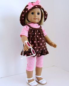 American Girl Doll PokeA Dots by SewSpecialByBarb on Etsy, $45.00