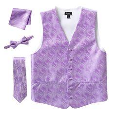 Steven Land Paisley 4-pc. Vest Set - Men, Size: XXL, Purple