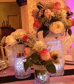 LED lighted centerpieces