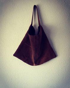 Mottainai bag brown handbag handmade unisex by EthicalLifeStore