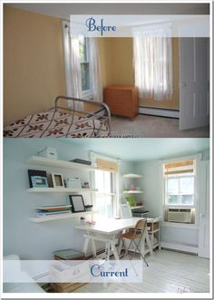 Great Reno of a Tiny Guest Room/Office