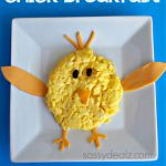 Chick Breakfast for Kids Using Eggs & Cheese