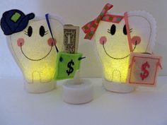 Tooth Fairy Tea Light with Money Pouch.