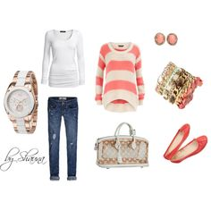 peaches and cream, created by shauna-rogers on Polyvore