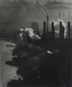 """Edison Power House at 39th Street and East River"" Samuel H. Gottscho, 1932, vintage gelatin silver print"