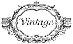 french fonts | Vintage Oval Frame and Wreath