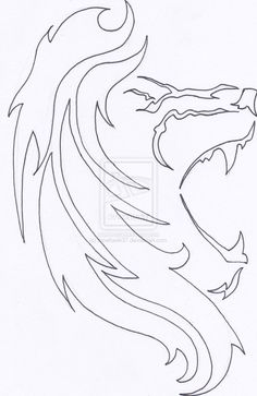 Lion Tattoo Outline by ~moehawk37 on deviantART