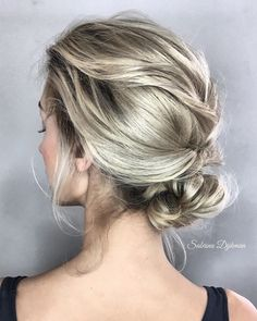 Short Messy Updo with Headband Braid - 60 Gorgeous Updos for Short Hair That Look Totally Stunning - The Trending Hairstyle Messy Updo, Short Hair Updo, Curly Hair Styles, Messy Buns, Loose Wedding Hair, Wedding Updo, Wedding Headpieces, Easy Updo Hairstyles, Summer Hairstyles