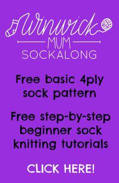 Basic 8ply (DK) boot socks - free pattern and tutorial – Winwick Mum Knitting Kits, Knitting Designs, Knitting Patterns Free, Knitting Socks, Knit Socks, Knit Slippers, Knitting Basics, Crochet Socks, Knitting Videos