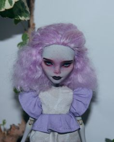 Monster High Ghoulia Yelps OOAK Custom Doll Repaint by DaryaSpace on Etsy https://www.etsy.com/listing/476493471/monster-high-ghoulia-yelps-ooak-custom