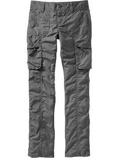 We love finding cargo pants made for girls!  Especially when the pockets are big enough to actually hold stuff and the fit is not too skinny.  This pair from Old Navy is also available in khaki and camo, sizes 5-16.  They are made of poplin, so get them before it turns too cold!