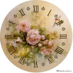 Циферблаты часов. 50 шаблонов для распечатки пригодятся любительницам handmade, декупажа, создания своими руками предметов интерьера в стиле винтаж.