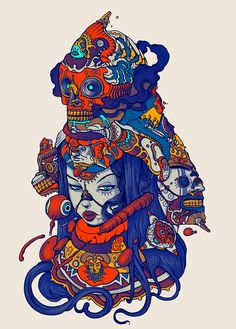 Raul Urias, Recent Work.Gorgeously colorful and wonderfully imaginative recent…