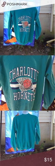 Selling this Charlotte Hornets men's sweat shirt size XL on Poshmark! My username is: alicesales. #shopmycloset #poshmark #fashion #shopping #style #forsale #Trench #Other