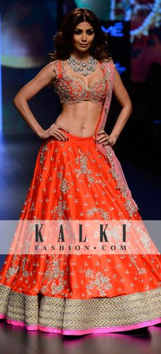 Shilpa Shetty in Anushree Reddy Collection at Lakme Fashion Week 2016