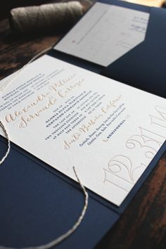 loveleigh invitations // letterpress, pocket fold invitation with gold glitter liners for a rustic, california new years' eve wedding