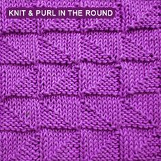 [ Knit and Purl in the round ] Alternating Broken Check