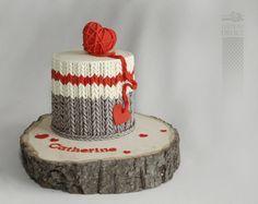 wool socks cake by Marie-Josée