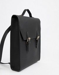ASOS | ASOS Leather Ring And Tassel Backpack
