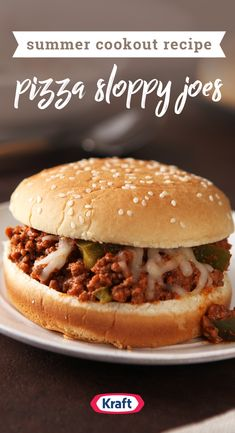 Pizza Sloppy Joes – Swap out the crust for soft hamburger buns, and you've got a tasty pizza-inspired version of sloppy joes with red sauce and mozzarella cheese. You can bet the whole family will enjoy this fun dinnertime creation.