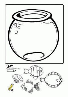 Akvaryum Kalıbı. Aquarium printables. Molde del acuario. аквариум